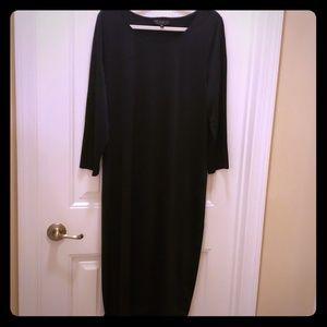 Eloquii Black Body Con Midi Dress